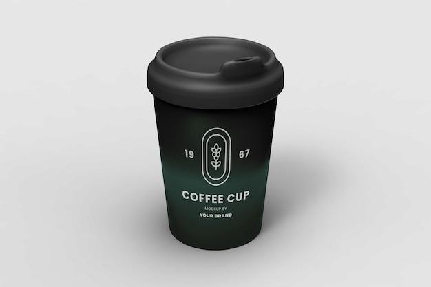 Projeto moderno do modelo da xícara de café isolado