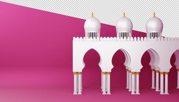 Projeto ramadan kareem em renderização 3d
