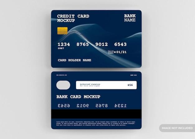 Projeto realista de maquete de cartão de crédito isolado