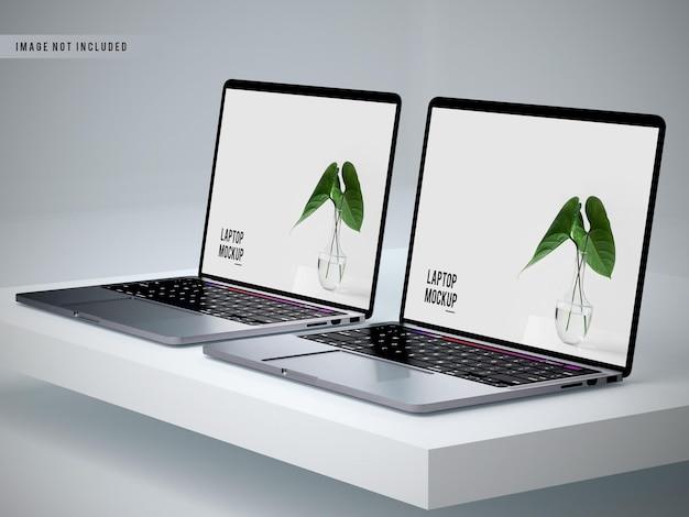 Projeto realista de maquete de laptop