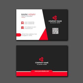 Projeto vermelho do cartão de visita