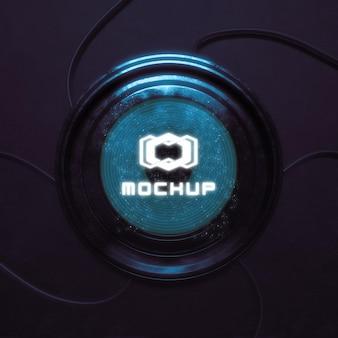 Projetor de efeito de logotipo futurista