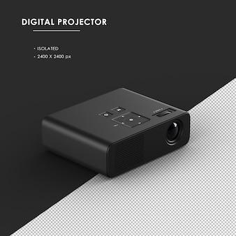 Projetor digital preto isolado da vista frontal superior direita