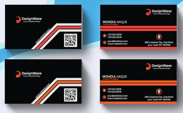 Projetos de cartão de visita corporativo