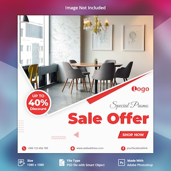 Promo especial venda oferta social media banner