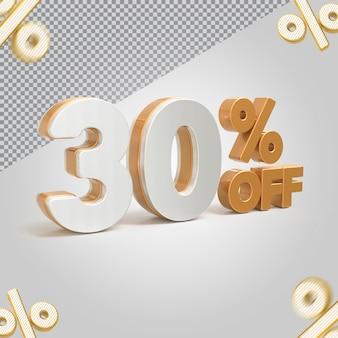 Promoção 3d oferta de 30 por cento