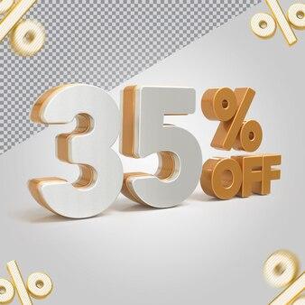 Promoção 3d oferta de 35 por cento