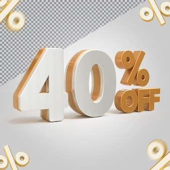 Promoção 3d oferta de 40 por cento