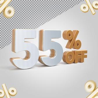 Promoção 3d oferta de 55 por cento