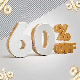Promoção 3d oferta de 60 por cento