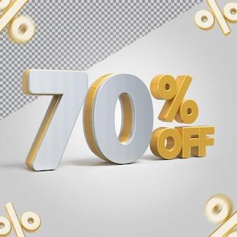 Promoção 3d oferta de 70 por cento
