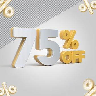 Promoção 3d oferta de 75 por cento