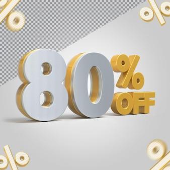 Promoção 3d oferta de 80 por cento