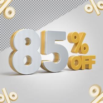 Promoção 3d oferta de 85 por cento