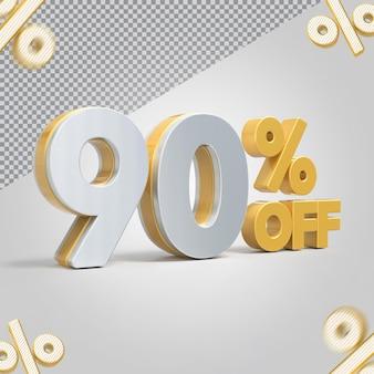 Promoção 3d oferta de 90 por cento