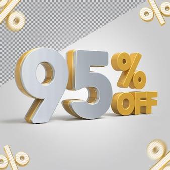 Promoção 3d oferta de 95 por cento