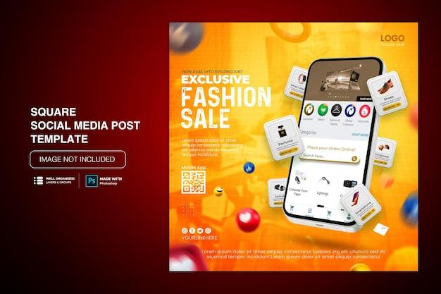 Promoção de compras on-line de venda de conceito criativo em mídia social