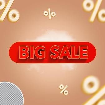 Promoção de grande venda 3d