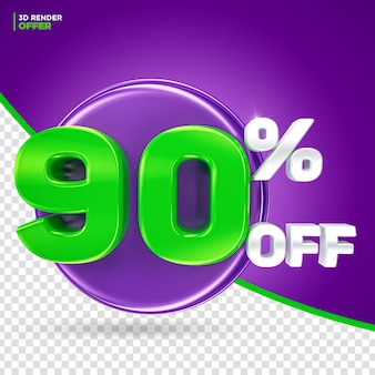 Promoção de halloween oferece 90% de desconto na renderização em 3d do rótulo para composição