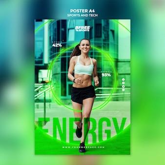 Promoção de marketing de mulher fitness