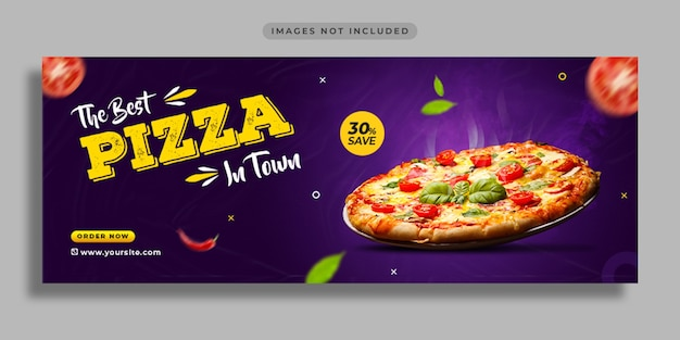 Promoção de mídia social de alimentos e modelo de design de banner da web