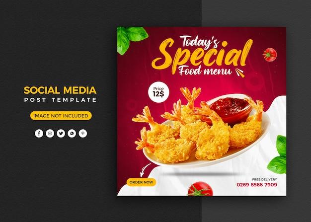 Promoção de mídia social e modelo de design de postagem de banner do instagram