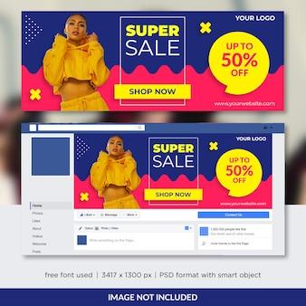 Promoção de moda para capa do facebook