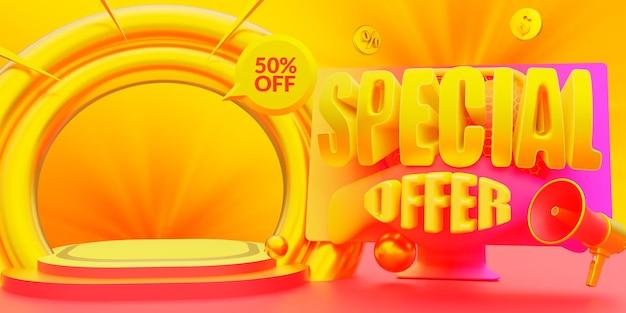 Promoção de modelo de banner de venda oferta especial