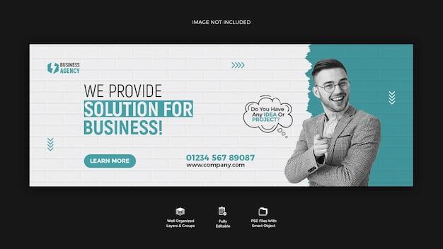 Promoção de negócios e design de modelo de banner de história corporativa no instagram