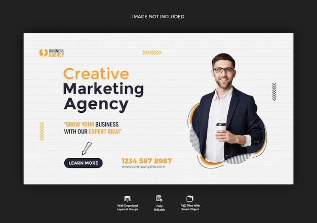 Promoção de negócios e design de modelo de postagem de banner web corporativo Psd Premium