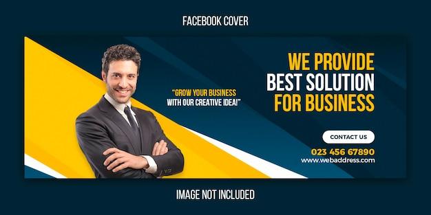 Promoção de negócios e modelo criativo de capa do facebook