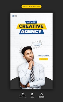Promoção de negócios e modelo criativo de história instagram