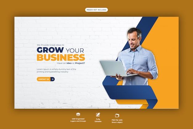 Promoção de negócios e modelo de banner da web corporativa