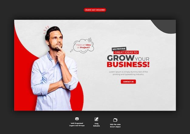 Promoção de negócios e modelo de banner web corporativo