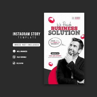 Promoção de negócios e modelo de design de história corporativa no instagram