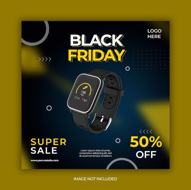 Promoção de oferta especial de black friday para modelo de post do instagram