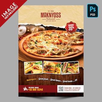 Promoção de panfleto de comida para restaurante