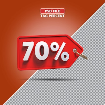 Promoção de porcentagem 3d de 70 por cento