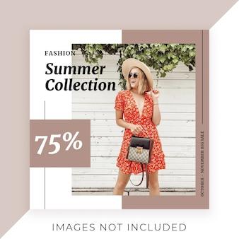 Promoção de pós-venda de moda do instagram