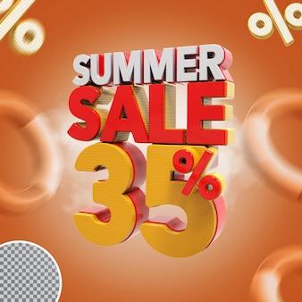 Promoção de verão 3d com 35% de desconto