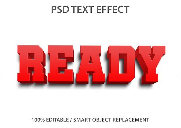 Pronto para efeito de texto editável