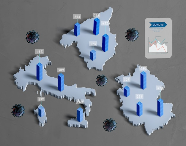 Propagação de países infectados por mapas de coronavírus