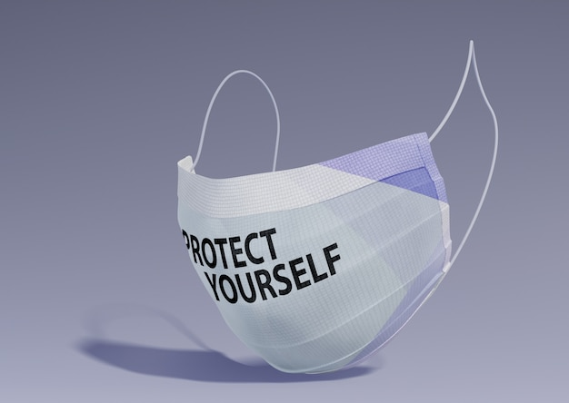 Proteja-se a mensagem na máscara