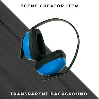 Protetores de orelha isolados com traçado de recorte.