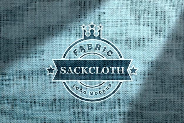 Protótipo de maquete de tecido com logomarca e sombra sobreposta. Psd Premium
