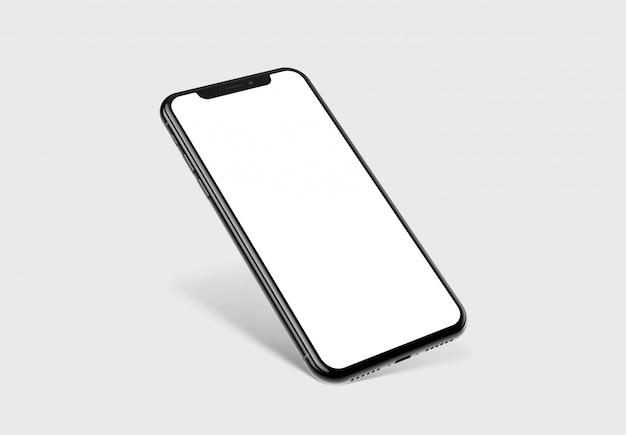 Protótipo de smartphone com maquete da tela