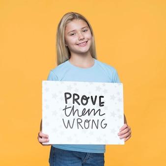 Prove-os errado jovem bonito