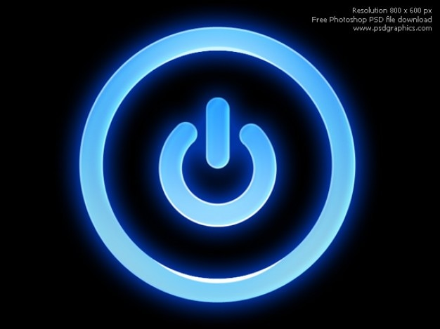 Psd botão de energia