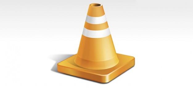 Psd cone de trânsito laranja