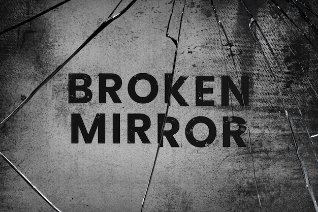 Psd de fundo com efeito de espelho de vidro quebrado